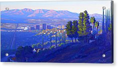 Down In The Valley Acrylic Print by Elena Roche