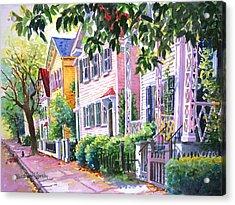 Down On Franklin Street Acrylic Print by Alice Grimsley