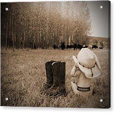 Down On The Farm Acrylic Print by Kami McKeon