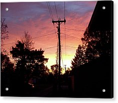 Down The Alley Sunrise Acrylic Print by Thomas Woolworth