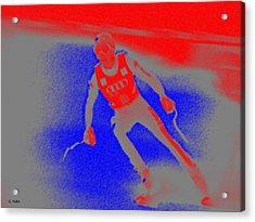 Downhill Skier Acrylic Print by George Pedro