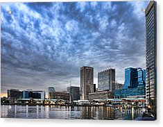 Downtown Baltimore Acrylic Print by Olivier Le Queinec