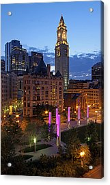 Downtown Boston With The Custom House Tower Acrylic Print by Juergen Roth