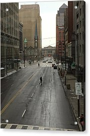 Downtown Cleveland Looking North Acrylic Print by Patricia Januszkiewicz