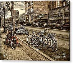 Downtown Coeur D'alene Idaho Acrylic Print by Scarlett Images Photography