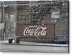 Downtown Covered In Snow Acrylic Print by Benanne Stiens