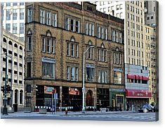 Downtown Detroit Acrylic Print by Frozen in Time Fine Art Photography