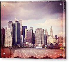 Downtown From Brooklyn Acrylic Print by Frank Winters