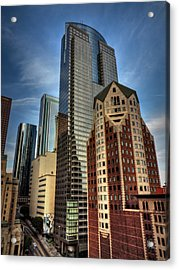 Downtown Los Angeles 003 Acrylic Print by Lance Vaughn
