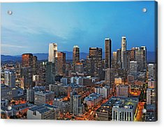 Downtown Los Angeles Acrylic Print by Kelley King