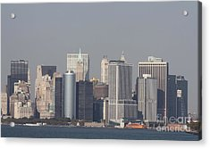 Downtown Manhattan Shot From The Staten Island Ferry Acrylic Print by John Telfer