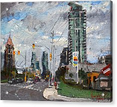 Downtown Mississauga On Acrylic Print by Ylli Haruni