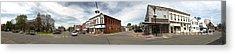 Downtown Montezuma Iowa Panorama Acrylic Print by Gregory Dyer