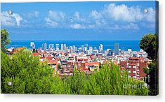 Downtown Panorama Of Barcelona Acrylic Print by Michal Bednarek