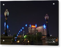 Downtown Providence At Night Acrylic Print by Juli Scalzi