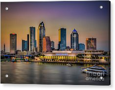 Downtown Tampa Acrylic Print by Marvin Spates