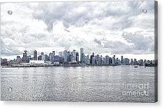 Downtown Vancouver And Burrard Inlet Acrylic Print by Rhonda Krause