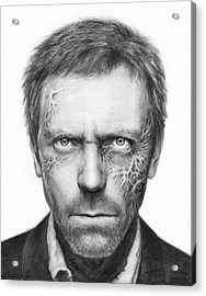 Dr. Gregory House - House Md Acrylic Print by Olga Shvartsur