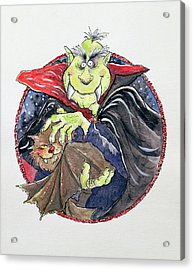 Dracula Acrylic Print by Maylee Christie