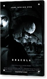 Dracula Custom Poster Acrylic Print by Jeff Bell