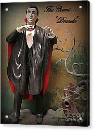 Dracula Model Kit Acrylic Print by John Malone