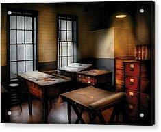 Draftsman - The Drafting Room Acrylic Print by Mike Savad