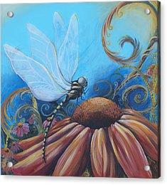 Dragon Fly Acrylic Print by Coreen Wasilkoff