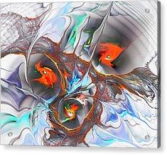Dragon Nest Acrylic Print by Anastasiya Malakhova