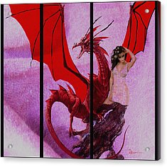 Dragon Power-featured In Comfortable Art Group Acrylic Print by EricaMaxine  Price