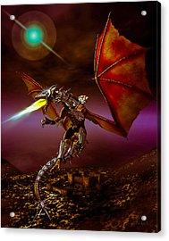 Dragon Rider Acrylic Print by Bob Orsillo
