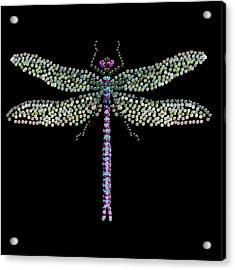 Dragonfly Bedazzled Acrylic Print by R  Allen Swezey