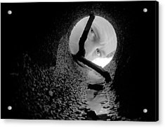Drain Pipe - Artist Self Portrait Acrylic Print by Gary Heller