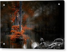 Dramatic Lake 2 Acrylic Print by Cecil Fuselier