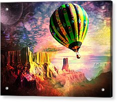 Dream And All Things Will Be Possible Acrylic Print by Spinning Angel