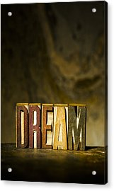 Dream Antique Letterpress Printing Blocks Acrylic Print by Donald  Erickson