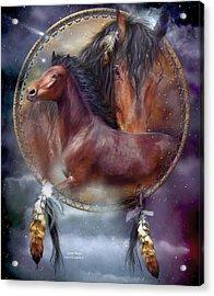 Dream Catcher - Spirit Horse Acrylic Print by Carol Cavalaris