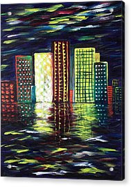 Dream City Acrylic Print by Anastasiya Malakhova