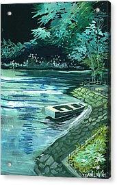 Dream Lake Acrylic Print by Anil Nene