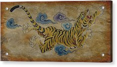 Dream Tiger  Acrylic Print by Larry Mora