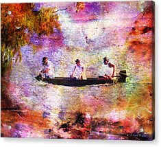 Dreaming About Fishing Acrylic Print by J Larry Walker