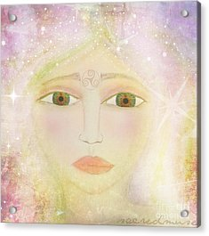 Dreams Of Avalon Tipple Goddess Guinevere  Acrylic Print by Sacred  Muse