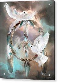Dreams Of Peace Acrylic Print by Carol Cavalaris