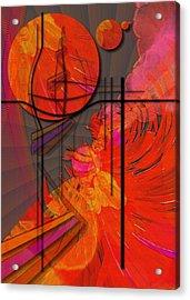 Dreamscape 06 - Tangerine Dream Acrylic Print by Mimulux patricia no