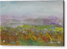 Dreamy Landscape Abstract Acrylic Print by Anne Cameron Cutri