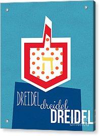 Dreidels Acrylic Print by Linda Woods