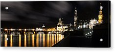 Dresden At Night Acrylic Print by Steffen Gierok