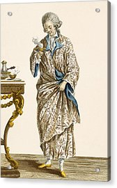 Dressing Gown In Printed Cotton Acrylic Print by Pierre Thomas Le Clerc