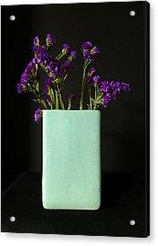 Dried Purple Flowers Acrylic Print by Patricia Januszkiewicz
