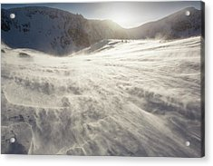 Drifting Snow In Cairngorm Acrylic Print by Ashley Cooper