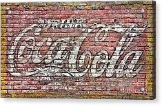 Drink Coca Cola Acrylic Print by Olivier Le Queinec